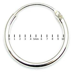 Pair Genuine Sterling Silver Earrings Hoops | H7:- Hoop thickness 1.2mm | Internal Diameter 10mm. | 1 shown - 2 sent (1 pair)