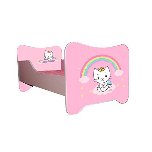 Kinderbett Angel Cat Sugar 70 x 140 cm, mit Lattenrost und Matratze, Rosa
