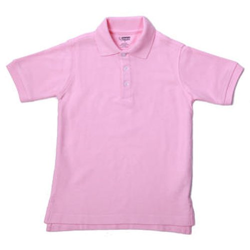 School Uniform Unisex Short Sleeve Pique Knit Shirt By French Toast, Pink 31945-10
