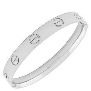 Daily Diamond Deal Stainless Steel Silver White
