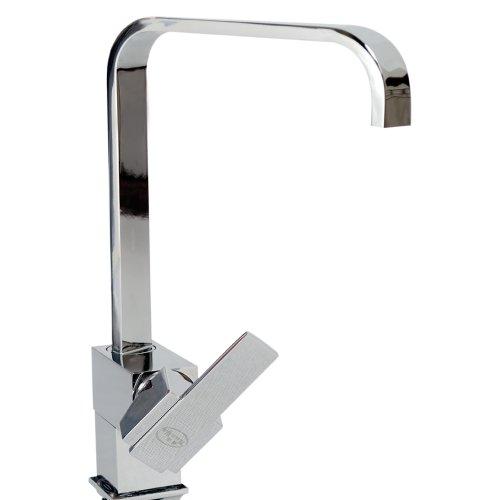 N.E.W. Tech. Modern Kitchen Sink Mixer Square Edge Spout Swivel Mono Tap