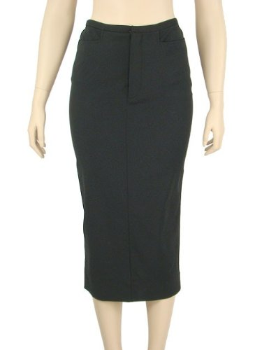 Dolce & Gabbana Skirt - Black Wool Blend Pencil Skirt It42 Image