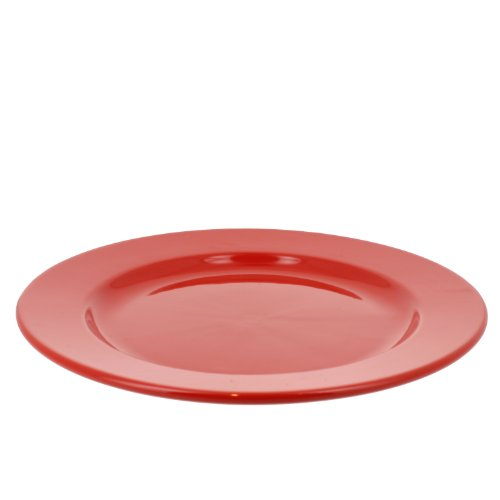 Coli Bakeware Italian Ceramic Classic Dinner Plate, 10.5-Inch, Red