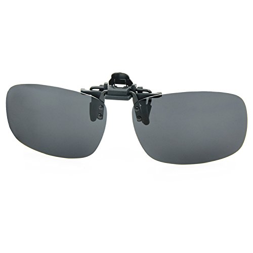 Besgoods Polarized Clip-on Flip up Plastic Sunglasses Lenses Glasses Outdoor Driving Fishing Cycling