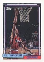 Kiki Vandeweghe Los Angeles Clippers 1993 Topps Autographed Hand Signed Trading Card. by Hall of Fame Memorabilia
