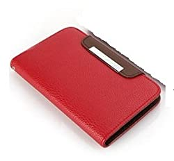 2010kharido Google Lg Nexus 4 E960 Leather Flip Wallet Case Cover Pouch Table Talk New Red