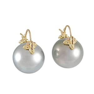 GABRIELLE SANCHEZ - Tahitian South Sea Grey Pearl Earrings