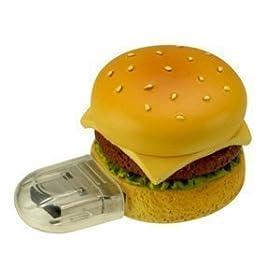 グリーンハウス ハンバーガー型 USBフラッシュメモリ ファーストフードシリーズ1GBセキュリティー機能 GH-UFD1GF-HB