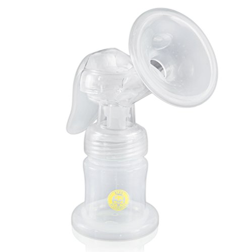 Breast Pump-This Bpa Free -Single Manual Breast Expression- This Quiet Discreet And Efficient Pump Is Perfect For Nursing Mothers- Unique Shield Design And Flexible Breastcups For Comfortable Pumping Experience-With 2 Storage Bottles And Lids Storing Brea