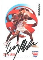 Terry Mills New Jersey Nets 1991 Skybox Autographed Hand Signed Trading Card - Rookie... by Hall+of+Fame+Memorabilia