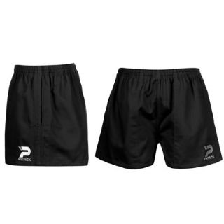 Patrick Rugby Shorts Mens Black Extra Lge