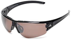 adidas Evil Eye Halfrim L a402 6060 Polarized Rectangle Sunglasses,Shiny Black,59 mm