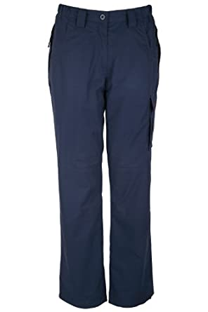 Mountain Warehouse Trek Lightweight Womens Multi Pockets Quick Dry Walking Hiking Trousers Navy 10