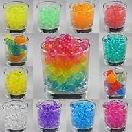12 Pack Combo Sooper BeadZ® Decoration Vase Filler – Water Beads Gel – 12 Colors – 5 grams per pack…