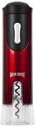 Metrokane Houdini Electric Corkscrew, Metallic Red