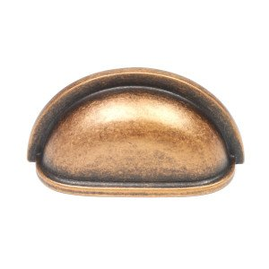 """Century Milan 3"""" cc cup pull, Cabinet Hardware bin cup drawer handle pull, 28443-AC, Antique Copper, 25 Pack"""