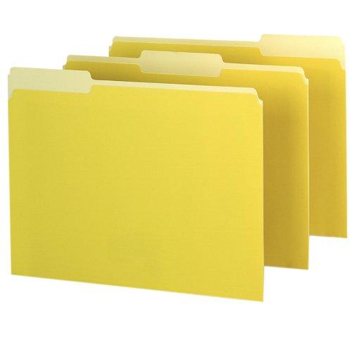 Pendaflex 421013yel Pendaflex Interior File Folders 1 3 Cut Top Tab Letter Yellow 100 Box