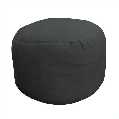 Soft Suede Luxe Bean Bag  Bigfoot Footstool, Onyx