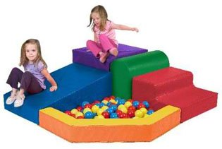 SoftZone Primary Climber With Ball Pool Playcenter