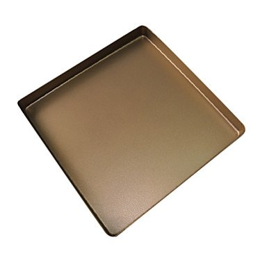 Non-Stick Aluminum Alloy Golden Square Grill Cake Pan (25L Oven Available)