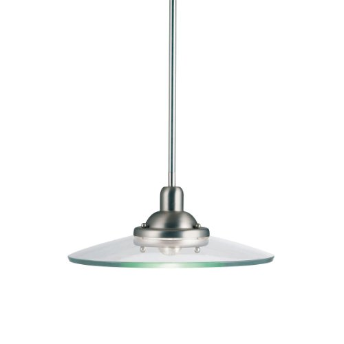 Kichler Lighting 2643NI Galaxie 1-Light Incandescent Pendant, Brushed Nickel, 60-Watt