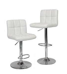 Amazon Com Roundhill Furniture Swivel White Bonded