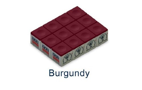 Great Features Of One Dozen Burgundy Silver Cup Pool Cue Chalk
