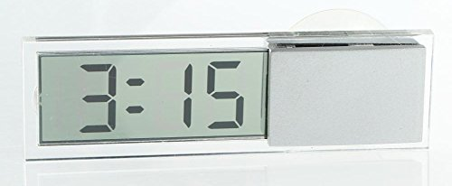 Amaranteen - 1Pcs Transparent Car Electronic Clock Mini Lcd Display Digital
