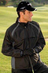 Glenmuir Rain Bloc Light Waterproof Mens Golf Jacket (L, Black/Graphite)