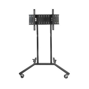 TechSol TSTV100-B LCD LED Plasma TV Trolley Cart Floor Stand with locking wheels for 32 37 40 42 46 50