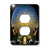 Danita Delimont - Florida - Florida, Orlando. Epcot Center at Walt Disney World - US10 BBA0072 - Bill Bachmann - Light Switch Covers - 2 plug outlet cover