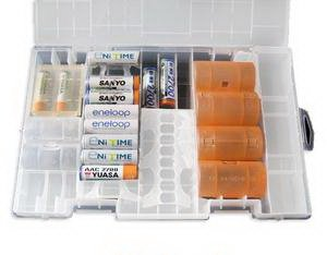 AAA Aa C D 9v Battery Storage Holder Case Box Hard Rack