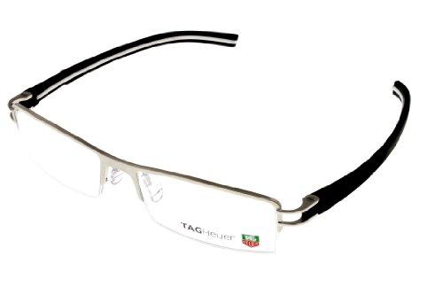 Tag Heuer Eyeglasses Frame Unisex Half Rimmed Pure Titanuim Black White Th762...