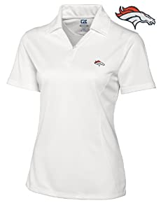 Denver Broncos Ladies Ladies Drytec Genre Polo White by Cutter & Buck