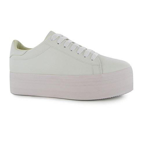 Jeffrey Campbell Play Stan piattaforma scarpe da donna bianco scarpe da ginnastica Sneakers, bianco