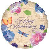 "Happy Anniversary Balloon 18"" (5 ct) - 1"