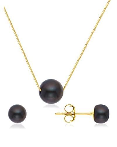 Pearls & Colors Conjunto de collar y pendientes