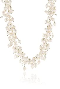 White Freshwater Cultured Pearl Necklace with Sterling Silver Clasp, 17