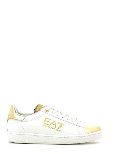 Emporio Armani EA7 scarpe sneakers donna in pelle nuove bianco EU 37 278063 6A299 33210