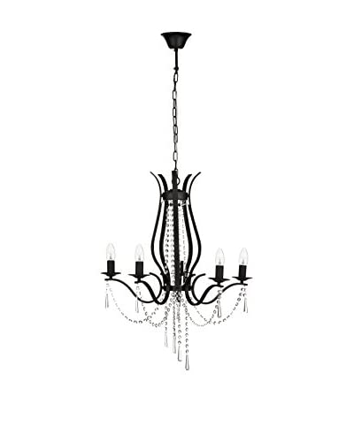 Metal Loft Lámpara De Araña Negro