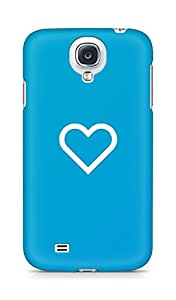 Amez designer printed 3d premium high quality back case cover for Samsung Galaxy S4 (Blue Heart)