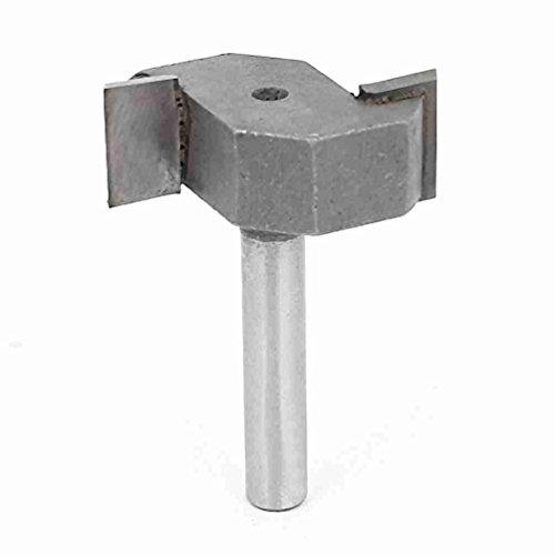 Magentoo(TM) Straight Shank Dual Flutes T Type Undercut Slot Router Bit 1/4 x 1/2