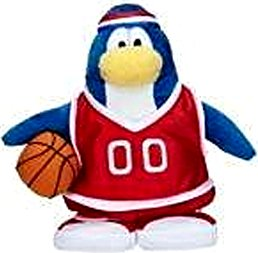 Buy Low Price Jakks Pacific Disney Club Penguin 6.5 Inch Series 7 Plush Figure Basketball Player Red Uniform Includes Coin with Code! (B003AJL07U)