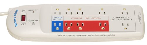 Smart Strip LCG4 Energy Saving Power Strip with Autoswitching Technology and Fax/Modem Surge Protection