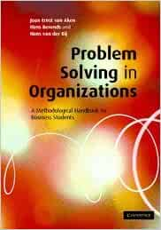 Problem solving in organizations a methodological handbook for business