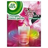 AIR WICK GLASS CANDLE COLOURS OF NATURE PINK SWEET PEA - 155 G