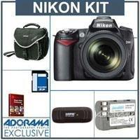 Nikon D90 DSLR Camera/ Lens Kit, with AF-S DX NIKKOR 18-105mm f/3.5-5.6G ED VR Lens, 4GB SD Memory Card,Spare EN-EL3e Lithium-Ion Battery, Slinger Camera Bag, USB 2.0 SD Card Reader - FREE: Red Giant Magic Bullet PhotoLooks V1.5 Software, for Mac & Windows a $199.00 Retail Value
