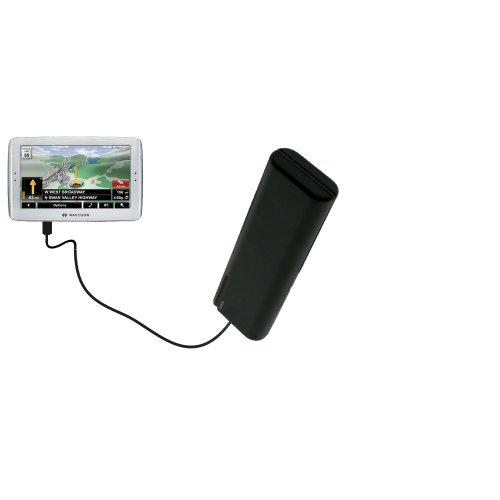 Portable Emergency AA Battery Charger Extender suitable for the Navigon 8100T - with Gomadic Brand TipExchange Technology