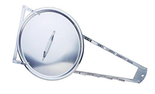 Pentole Agnelli Porta Coperchi Professionale, Alluminio, Argento