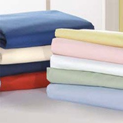 Crib & Toddler Poly/Cotton Sheets - Color: Off White- Flat